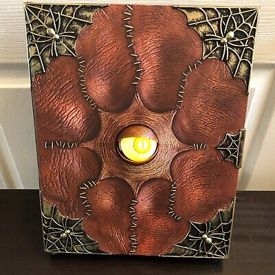 "Animated Evil Eye Spell Book Spirit Halloween Prop 14"" Light Spooky Talking"