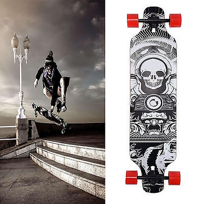 Longboard Skateboard Drop Down 105CM Skate Board ABEC 11 Wooden Complete Board