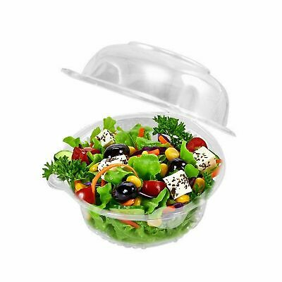 Plastic Cupcake Boxes (50 Plastic Single Individual Cupcake Containers, Clear Dome Box for Sandwich)
