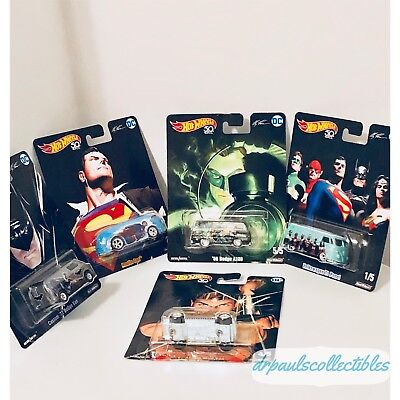 Hot Wheels 2018 DC Comics 5 Car Set Alex Ross Pop Culture Brand New