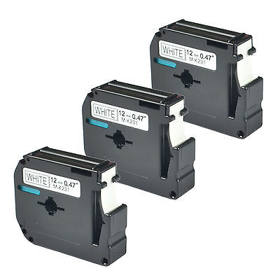 3 Compatible Brother M231 M-k231 Mk231 Label Tape For P-touch Pt-m95 Us-stock