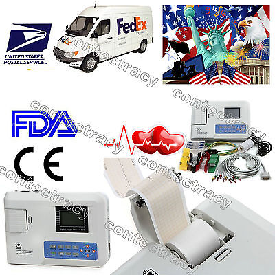 Us Sellerportable Digital Single Channel Ecg Ekg Machine Electrocardiographfda
