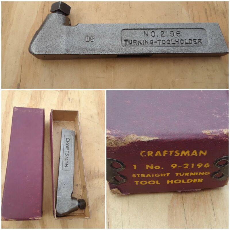 Vintage CRAFTSMAN 9-2196 Straight Turning Tool Holder for LATHE WORK w/Orig Box