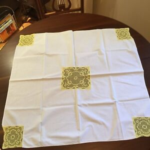 Vintage Linen Hand Made Table Cloth