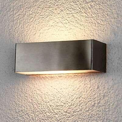 LED Außenwandlampe Alicja Edelstahl-Außenwandleuchte Eckig Wand Außen Lampenwelt gebraucht kaufen  Schlitz