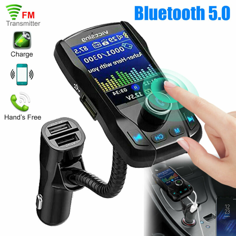 Bluetooth Car FM Transmitter MP3 Player Hands free AUX Radio Adapter USB Charger