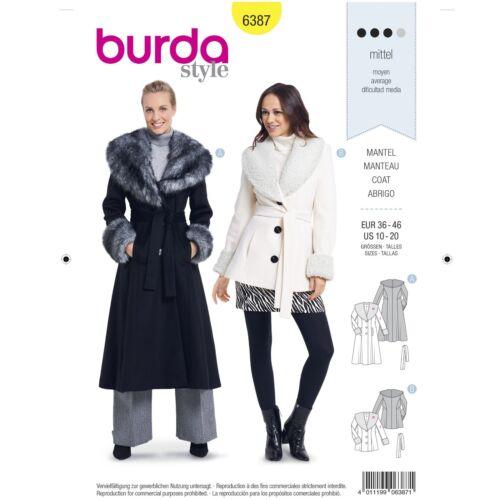 Burda 6387 SEWING PATTERN Misses
