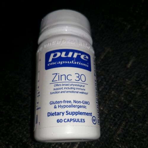 Pure Encapsulations Zinc 30. Zinc Picolinate 60 Caps.Exp:4/23: Sealed. FREE SHIP