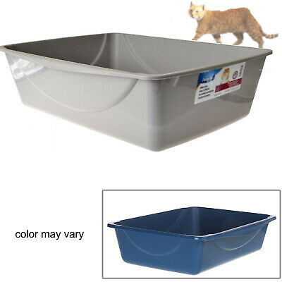 JUMBO CAT Litter Large Box Kitty Pet Plastic Pan Animal Clean System Durable ()