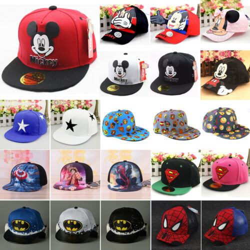 Boy Girls Kids Baby Baseball Cap Cartoon Hip Hop Toddler Sna