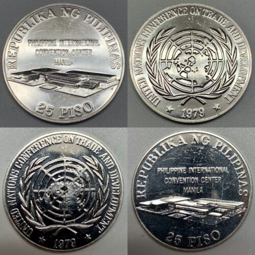 1979 Philippines 25 Piso Silver Uncirculated Coin KM 228