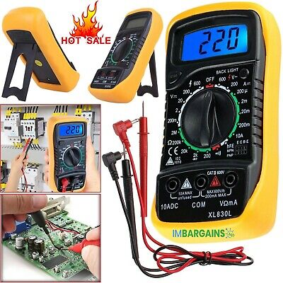 Digital Lcd Multimeter Voltmeter Ammeter Ac Dc Ohm Current Circuit Buzzer Tester