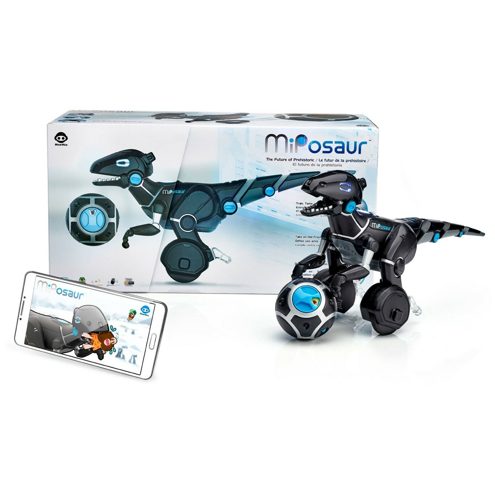 MIPOSAUR ROBOTIC DINOSAUR REMOTE CONTROLLED DUAL WHEEL WowWee NEW in Box