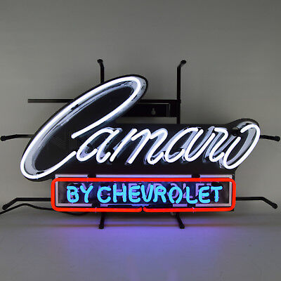 2018 Camaro by Chevrolet Neon Sign Licensed by Chevy GM SS Z28 ZL1 LS LT Lamp -