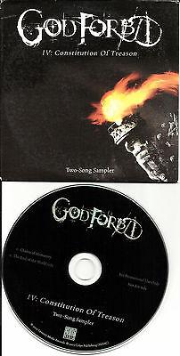 GOD FORBID 2 TRX SAMPLER w/ RARE End of the World EDIT PROMO DJ CD single (God Forbid The End Of The World)