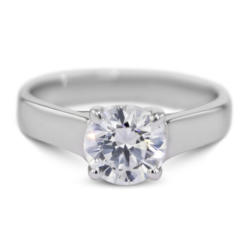 GIA CERTIFIED 1.01 Carat Round Cut F - VS1 Solitaire Diamond Engagement Ring
