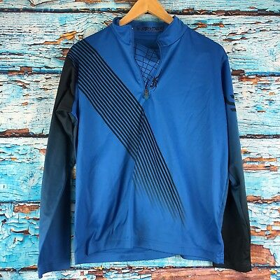Spider Boys Quarter Zip Blue Jacket Sweatshirt Youth XL for sale  Shipping to India