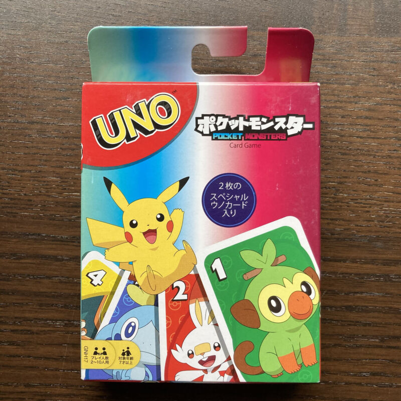 NEW Uno Pokemon Playing Cards Game - MATTEL Japan Import - USA Seller Ships Fast