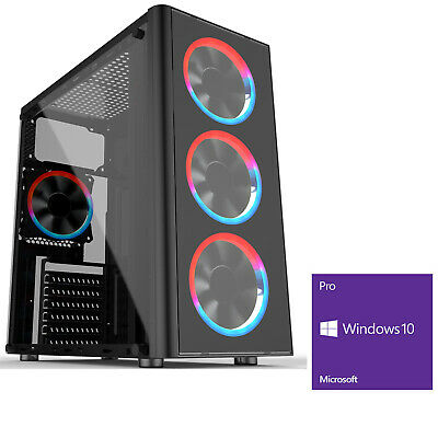 Computer Games - Ochw AMD 3200G Quad Core 8GB 240GB SSD Windows 10 Gaming PC Computer Metis RGB
