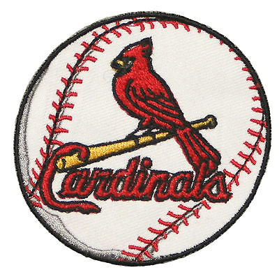 St Louis Cardinals Baseball Mlb Iron On Patch Embroidered Team Logo 3  Round