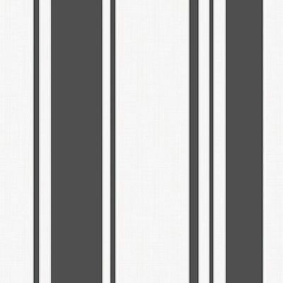 Metallic Stripe Bettwäsche (FINE DECOR FD41727 AMELIA STRIPE WALLPAPER BLACK / WHITE - METALLIC)