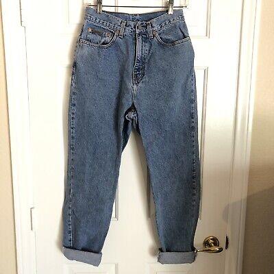 Vintage CALVIN KLEIN Medium washed 90's high waist Denim Jeans USA Made EUC 12 Calvin Klein Vintage Jeans