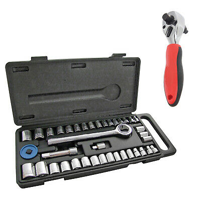 50mm Crowfoot Crow Foot Wrench Set 14pce 1//2 Drive Large Tool Set In Case 27mm