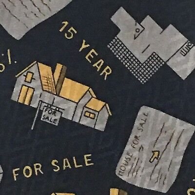 City One House For Sale Low Interest 15 Year Mortgage Navy Gray Novelty Tie