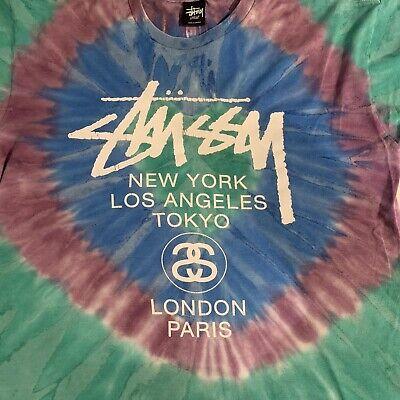 Stussy Large L T Shirt Tee Tie Dye