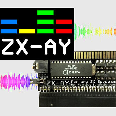 ZX-AY-AY8912 Sound Interface Stereo ZX Spectrum 16K 48K 48K+ 128K +2 +2A +2B +3