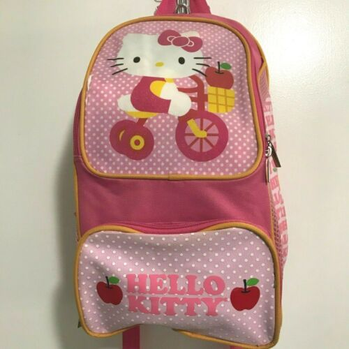 """Hello Kitty Backpack 16"""" Girls Pink"""