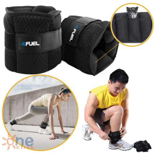 5 lbs Adjustable Ankle Weights Running Pair of Leg Wrist Arm Home Gym Exercise
