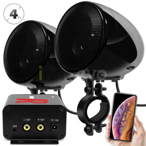 Bluetooth Amplifier Motorcycle ATV Speakers Waterproof Stereo Audio Radio System