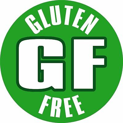 Gluten Free Labels, Weatherproof Printed Self Adhesive Vinyl Stickers x108