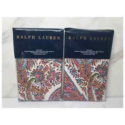 NEW Ralph Lauren Pyne Paisley King Sham Set
