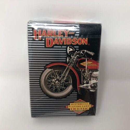 VTG NIP Harley Davidson Historical Playing Cards 1903-1950 Pack Collector HD