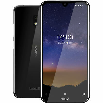 Android Phone - Nokia 2.2 TA-1179 32GB GSM Unlocked Android Phone - Tungsten Black