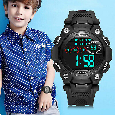 Kids Digital Electronic Watch Waterproof Children Boys Girls Sports LED Watche