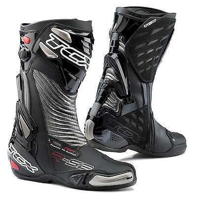 STIVALI BOOTS MOTO RACING SPORT TCX R-S2 RS2 EVO NERO BLACK SILVER TORSION TG 43