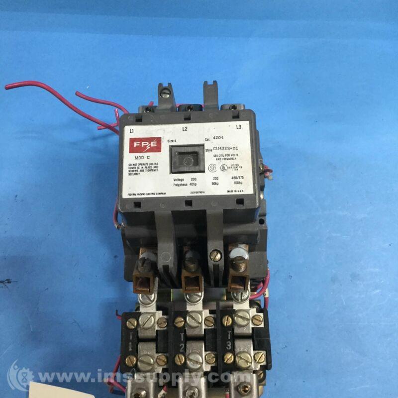Federal Pacific 4202CU43ES-01 Motor Starter, 200-575V, 40-100 HP USIP