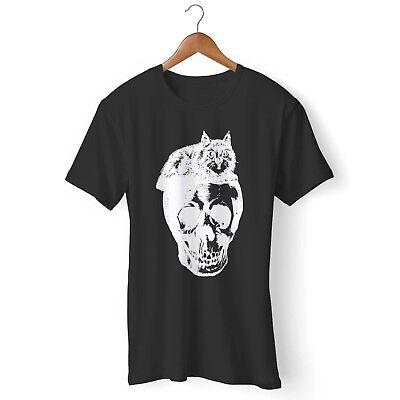 Cat Skull Halloween Man's / Woman's T-Shirt