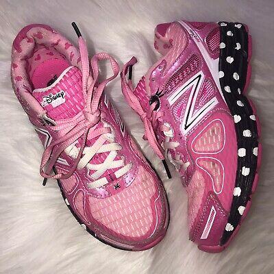 New Balance Girls Size 2 2014 Run Disney Pink Minnie Mouse Polka Dot Shoes