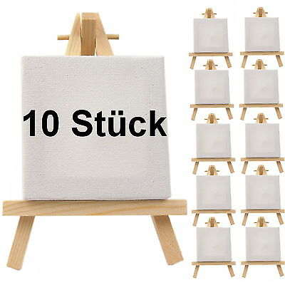 10 Stück Mini Staffelei Tischkarten Mini Keilrahmen Platzkarte Ministaffelei