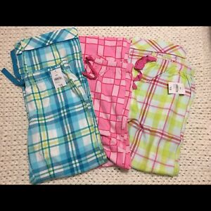 3 pr flannel pj pants new with tags