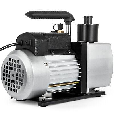 Dual Stage Vacuum Pump Rotary Vane 5cfm 12hp Deep Hvac Ac Air Tool Black New
