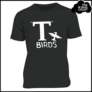 T Birds T-Shirt Grease Black Jacket T-Bird John Travolta Transfer Stag Night Men
