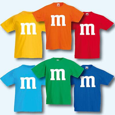 Kinder T-Shirt, Fun-Shirt, M&M Kostüm Karneval Fasching Gruppenkostüm Kids