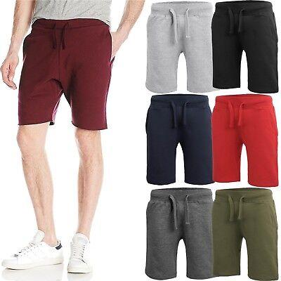 Mens Fleece Jogger SHORTS Casual Cotton Sweat Classic Fit Gym Athletic Pants