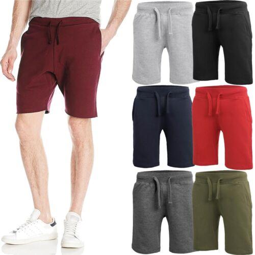 Mens Fleece Sweat Shorts Casual Cotton Jogger Classic Fit Gym Athletic Pants