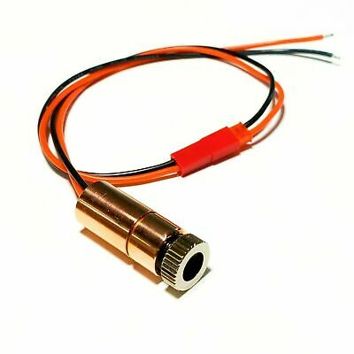 1-watt Ndg7475 Laser Diode In 12mm Copper Module W 2-e Lens - 22awg-jst - 520nm